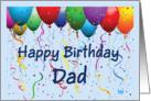 Happy Birthday Dad - Balloons card