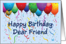 Happy Birthday Friend - Balloons card