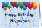 Happy Birthday Grandson - Balloons card