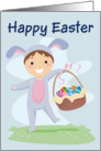 Happy Easter (Boy-basket) card