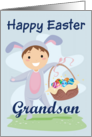 Happy Easter Grandson (Boy-basket) card