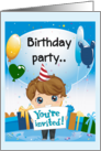 Birthday Party-You're Invited (birthday party invite - boy) card