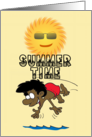 Summer Time (Boy diving, Sun, African American) card