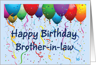 Happy Birthday Brother-in-law - Balloons card