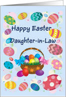 Happy Easter Daughter-in-law (Easter eggs/basket) card