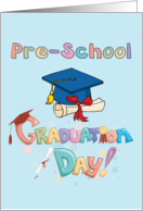 Pre-School Graduation Day - Cap and Diploma card