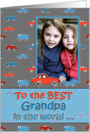 Happy Birthday, to the BEST Grandpa, photo card, cars card