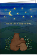 Father's Day, for Dad - Bears, landscape, stars, moon, illustration card