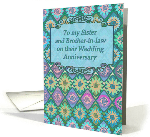 Wedding Anniversary Gift Ideas For Sister In Law : Wedding Anniversary Card For Sister And Brother In Law 1070201