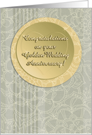 Congratulations on your Golden Wedding Anniversary! patterns, circles. card