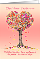 Happy Valentine's Day, Grandma! Cute heart tree illustration card