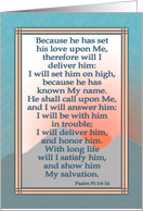 Happy Father's Day, Christian scripture card for brother, blue & grey card