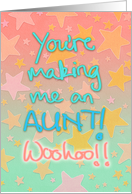 To my sister, pregnancy congratulations; you're making me an aunt! card