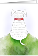 Dog Sympathy - Impressions on our Hearts Stay with us Forever card