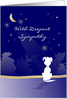 Dog Sympathy - Moon & Stars Dog Silhouette - With Deepest Sympathy card