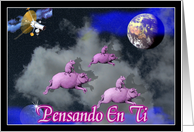 Pensando en ti - spanish Thinking of you card