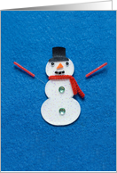 Snowman Getting Acupuncture Christmas Card
