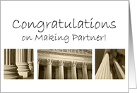 Congratulations on Making Becoming Partner in Law Firm card
