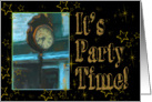 It's Party Time Outdoor Street Clock Party Invitation card
