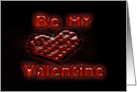 Be My Valentine Lighted Neon Look Heart card