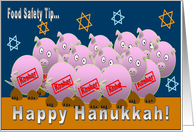 Pigs and Hanukkah card