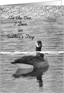 To The One I Love on Father's Day, BW Goose card
