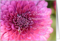 Beautiful Daughter-in-law on Mother's Day, Dahlia card