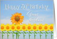 Great Aunt, 80th Birthday, Sunflowers card