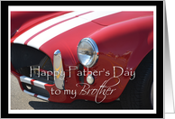 Father's Day Brother, Red car card