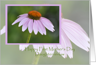 Coneflower, Happy First Mother's Day Daughter-in-law card