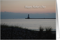 Happy Father's Day, Evening Lighthouse card
