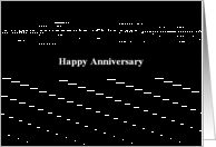 Simply Black - Happy Anniversary card