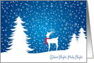 Reindeer in a Snowy Forest Christmas card