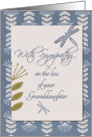Sympathy Loss of Granddaughter Dragonflies and Flowers card