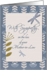 Sympathy Loss of Mother-in-Law Dragonflies and Flowers card