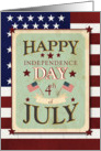 Happy 4th of July Independence Day Stars and Stripes card