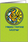 Happy Norooz Mother Persian New Year Goldfish card