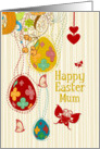 Happy Easter Mum Egg Tree, Butterflies and Flowers card