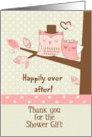 Thank You for the Shower Gift Owl Couple in Tree with Polka Dots card