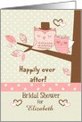 Bridal Shower Invitation Custom Name Owl Couple in Tree card