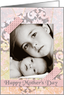 Mother's Day Pretty Scrapbook Style Pastels Custom Photo Card