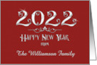 Happy New Year 2018 Custom Name Sparkling Burgundy Sophisticated card