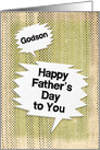Happy Father's Day to Godson Masculine Grunge and Speech Bubbles card