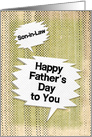 Happy Father's Day to Son-in-Law Masculine Grunge and Speech Bubbles card