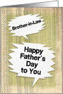 Happy Father's Day to Brother-in-Law Masculine Grunge Speech Bubbles card