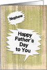 Happy Father's Day to Nephew Masculine Grunge Speech Bubbles card