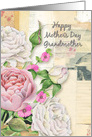 Happy Mother's Day Grandmother Vintage Look Flowers and Paper Collage card