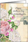 Happy Mother's Day Great Granddaughter Vintage Flowers Paper Collage card