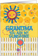Happy Grandparents Day Grandma You Are My Sunshine card