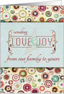 Sending Love and Joy from our Family to Yours card
